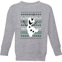 Disney Frozen Olaf Dancing Kids' Christmas Sweatshirt - Grey - 7-8 Years - Grey