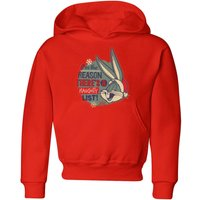Looney Tunes I'm The Reason There Is A Naughty List Kids' Christmas Hoodie - Red - 3-4 Years - Red