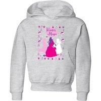 Disney Princess Silhouettes Kids' Christmas Hoodie - Grey - 3-4 Years - Grey