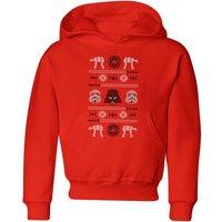 Star Wars Imperial Knit Kids' Christmas Hoodie - Red - 7-8 Years - Red