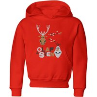 Disney Frozen Olaf and Sven Kids' Christmas Hoodie - Red - 9-10 Years - Red