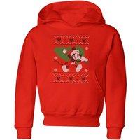 Disney Tree Mickey Kids' Christmas Hoodie - Red - 7-8 Years - Red
