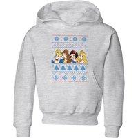 Disney Princess Faces Kids' Christmas Hoodie - Grey - 3-4 Years - Grey