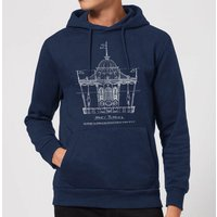 Mary Poppins Carousel Sketch Christmas Hoodie - Navy - L - Navy