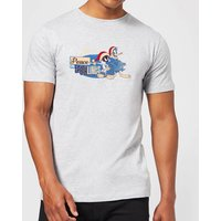 Looney Tunes Peace Among Earthlings Mens Christmas T-Shirt - Grey - M - Grey