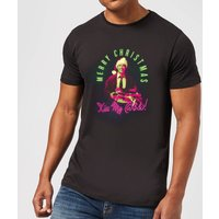 National Lampoon Merry Christmas Clark Griswold Men's Christmas T-Shirt - Black - S - Black