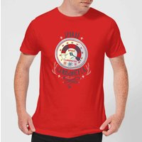 Elf Clausometer Men's Christmas T-Shirt - Red - XXL - Red