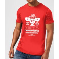 National Lampoon Merry Christmoose Men's Christmas T-Shirt - Red - XXL - Red