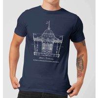 Mary Poppins Carousel Sketch Men's Christmas T-Shirt - Navy - XL - Navy