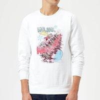 DC Ho Ho Whoaaaaaaa Christmas Sweatshirt - White - XL - White