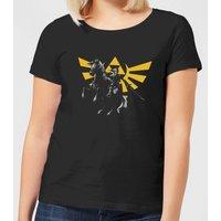 Nintendo Legend Of Zelda Hyrule Link Women's T-Shirt - Black - XL - Black