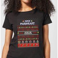 Nintendo Mario Kart Here We Go Women's Christmas T-Shirt - Black - 3XL - Black