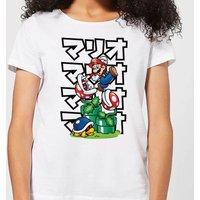 Nintendo Super Mario Piranha Plant Japanese Women's T-Shirt - White - 3XL - White