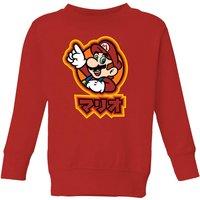 Nintendo Super Mario Kanji Kids' Sweatshirt - Red - 5-6 Years