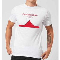 Summit Finish Passo Dello Stelvio Men's T-Shirt - White - S - White