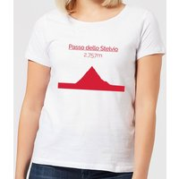 Summit Finish Passo Dello Stelvio Women's T-Shirt - White - XS - White