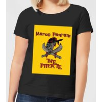Summit Finish Pantani The Pirate Women's T-Shirt - Black - XS - Black