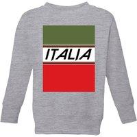 Summit Finish Italia Kids' Sweatshirt - Grey - 7-8 Years - Grey