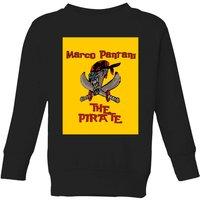 Summit Finish Pantani The Pirate Kids' Sweatshirt - Black - 9-10 Years - Black