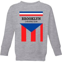 Summit Finish Brooklyn Chewing Gum Kids' Sweatshirt - Grey - 7-8 Years - Grey