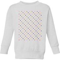 Summit Finish Grand Tour Dots Kids' Sweatshirt - White - 9-10 Years - White