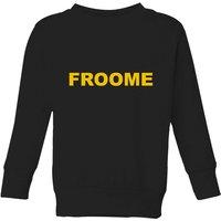 Summit Finish Froome - Rider Name Kids' Sweatshirt - Black - 11-12 Years - Black