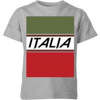 Summit Finish Italia Kids' T-Shirt - Grey - 5-6 Years - Grey