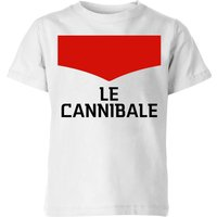 Summit Finish Le Cannibale Kids' T-Shirt - White - 9-10 Years - White
