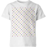 Summit Finish Grand Tour Dots Kids' T-Shirt - White - 11-12 Years - White