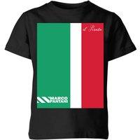 Summit Finish Pantani Il Pirata Kids' T-Shirt - Black - 5-6 Years - Black