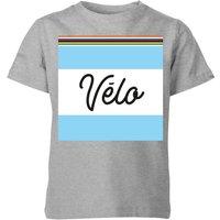 Summit Finish Velo Kids T-Shirt - Grey - 5-6 Years - Grey