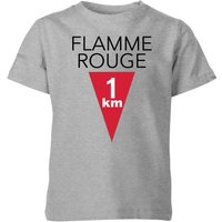 Summit Finish Flamme Rouge Kids' T-Shirt - Grey - 7-8 Years - Grey