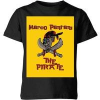 Summit Finish Pantani The Pirate Kids' T-Shirt - Black - 7-8 Years - Black