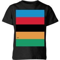 Summit Finish World Champion Stripes Kids' T-Shirt - Black - 9-10 Years - Black