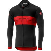 Castelli Prologo VI Long Sleeve Jersey - S - Black/Red/Black