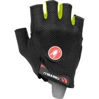 Castelli Arenberg Gel 2 Gloves - L - Black/Yellow Fluo