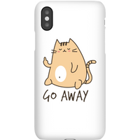 Go Away Phone Case for iPhone and Android - iPhone X - Snap Case - Gloss