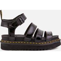 Dr. Martens Women's Blaire Patent Lamper Strappy Sandals - Black - UK 8