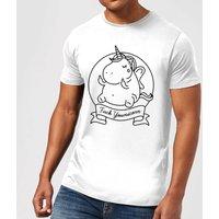 F*** Younicorn Mens T-Shirt - White - 4XL - White