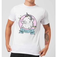 Be Magical and S*** Mens T-Shirt - White - 4XL - White