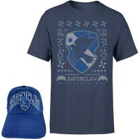 Harry Potter Ravenclaw T-Shirt and Cap Bundle - Navy - Mens - S - Navy