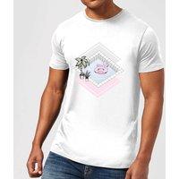 Barlena Flamingos Paradise Men's T-Shirt - White - XL - White