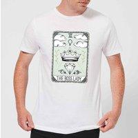 Barlena The Boss Lady Mens T-Shirt - White - 4XL - White