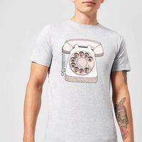 Barlena Phone Call Mens T-Shirt - Grey - XXL - Grey