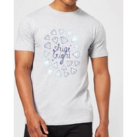 Barlena Shine Bright Mens T-Shirt - Grey - XL - Grey