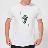 Barlena Ace Of Hearts Men's T-Shirt - White - L - White