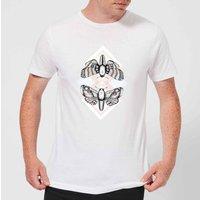 Barlena Moth Mens T-Shirt - White - 5XL - White