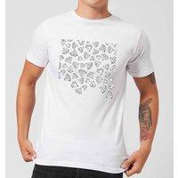 Barlena Diamond Shower Men's T-Shirt - White - XXL - White