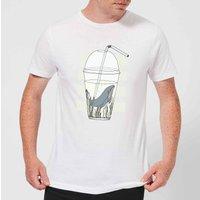 Barlena Thirsty Men's T-Shirt - White - M - White