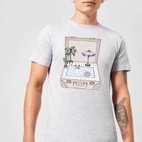 Barlena Pool To Go Mens T-Shirt - Grey - 3XL - Grey